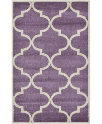 "Arbor Arb3 Purple 3' 3"" x 5' 3"" Area Rug"