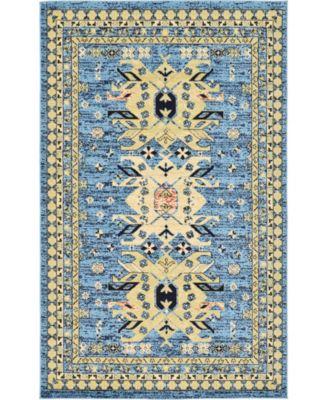 Charvi Chr1 Light Blue 5' x 8' Area Rug