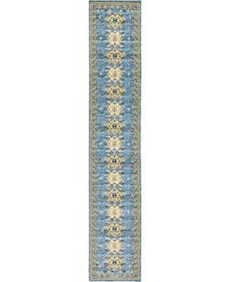 """Charvi Chr1 Light Blue 3' x 16' 5"""" Runner Area Rug"""