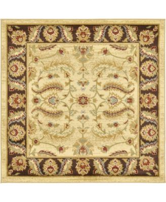 Passage Psg1 Ivory 4' x 4' Square Area Rug