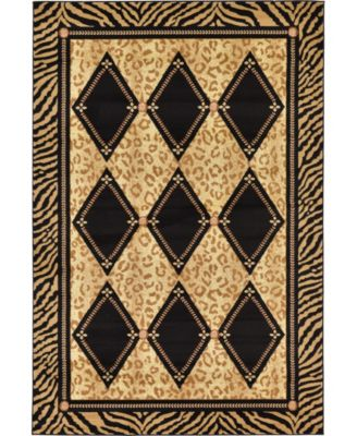 Maasai Mss6 Light Brown 6' x 9' Area Rug