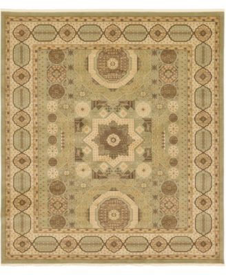 "Wilder Wld2 Light Green 10' x 11' 4"" Square Area Rug"