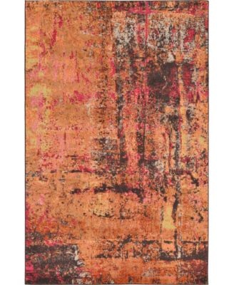 Newwolf New3 Orange 5' x 8' Area Rug