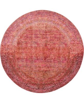 Malin Mal8 Red 6' x 6' Round Area Rug
