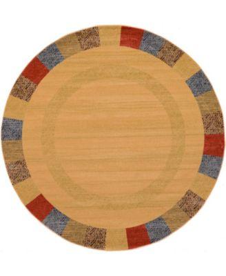 Ojas Oja5 Beige 8' x 8' Round Area Rug
