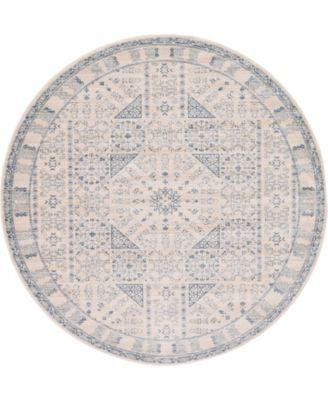 Caan Can3 Beige 6' x 6' Round Area Rug