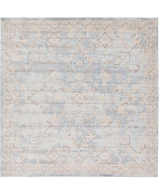 Caan Can7 Light Blue 8' x 8' Square Area Rug