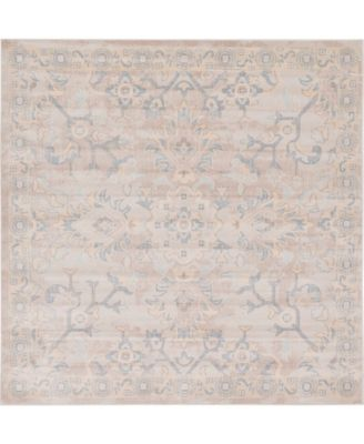 Caan Can7 Gray 8' x 8' Square Area Rug