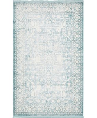 Norston Nor1 Blue 5' x 8' Area Rug