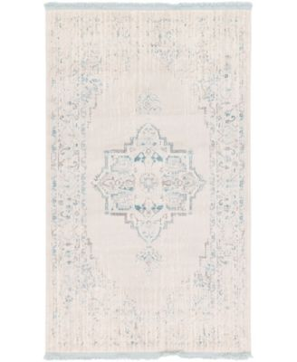 """Norston Nor2 Ivory 3' 3"""" x 5' 3"""" Area Rug"""