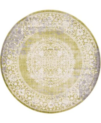 Norston Nor4 Light Green 8' x 8' Round Area Rug