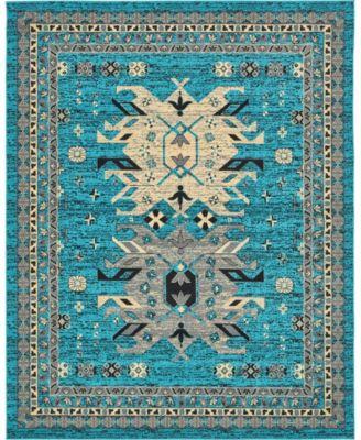 Charvi Chr1 Turquoise 8' x 10' Area Rug