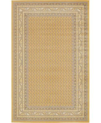 Axbridge Axb1 Yellow 5' x 8' Area Rug
