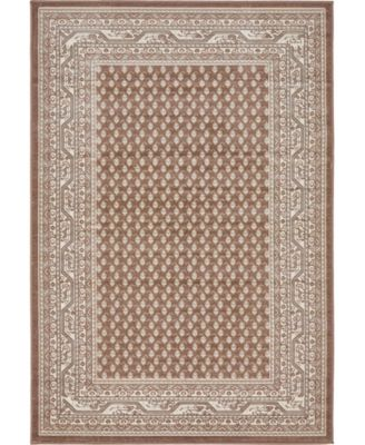 Axbridge Axb1 Brown 4' x 6' Area Rug