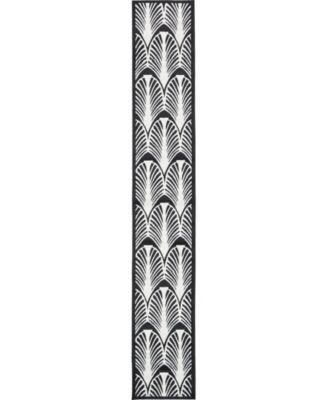 Politan Pol6 Black 2' x 13' Runner Area Rug