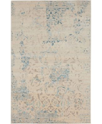 Caan Can1 Beige 4' x 6' Area Rug