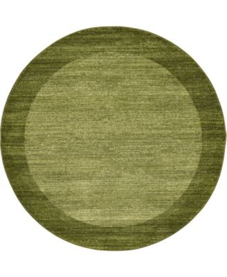 Lyon Lyo4 Light Green 6' x 6' Round Area Rug