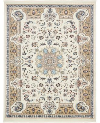 Zara Zar5 Ivory 8' x 10' Area Rug