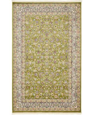 Zara Zar1 Green 5' x 8' Area Rug