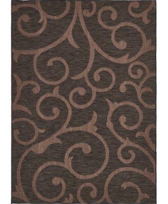 Pashio Pas7 Chocolate Brown 6' x 9' Area Rug