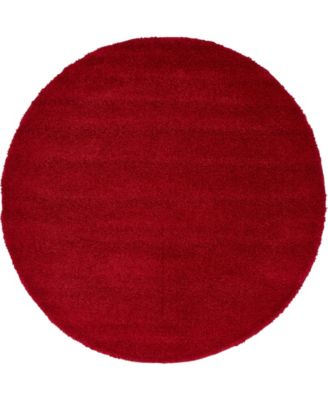 Uno Uno1 Red 6' x 6' Round Area Rug