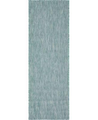 Pashio Pas6 Aquamarine 2' x 6' Runner Area Rug