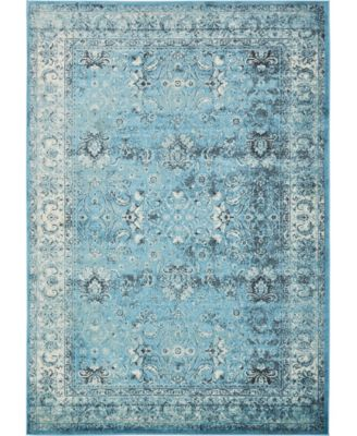 """Linport Lin1 Turquoise/Ivory 8' x 11' 6"""" Area Rug"""