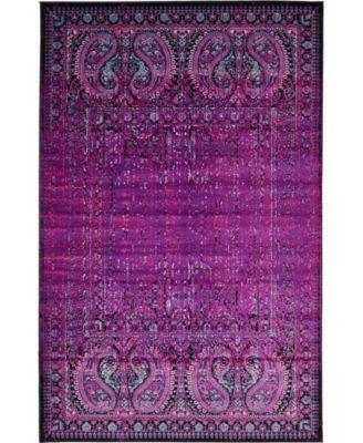 Linport Lin6 Lilac 5' x 8' Area Rug
