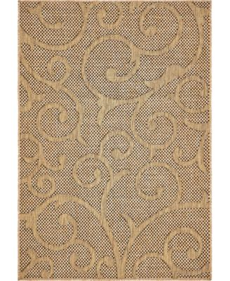 Pashio Pas7 Light Brown 4' x 6' Area Rug