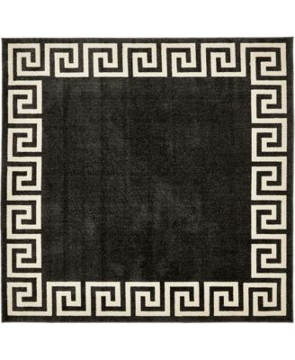 Anzu Anz2 Charcoal 8' x 8' Square Area Rug