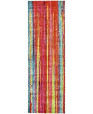 Pari Par7 Multi 2' x 6' Runner Area Rug