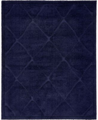 Filigree Shag Fil1 Navy Blue 8' x 10' Area Rug