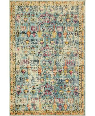Newhedge Nhg6 Blue 4' x 6' Area Rug