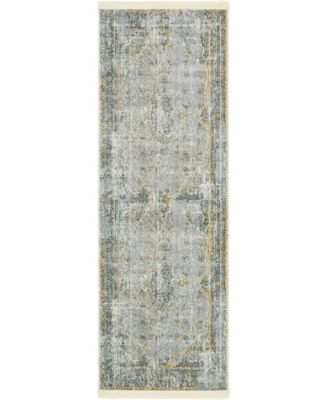 "Kenna Ken1 Gray 2' 2"" x 6' Runner Area Rug"