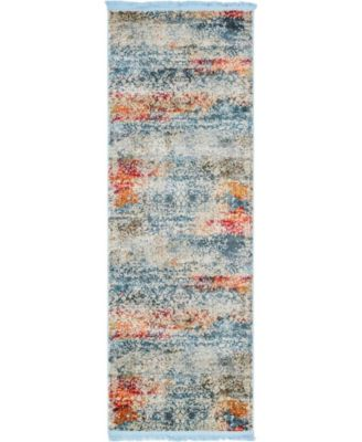 "Kenna Ken3 Ivory 2' 2"" x 6' Runner Area Rug"