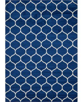 Plexity Plx2 Navy Blue 9' x 12' Area Rug