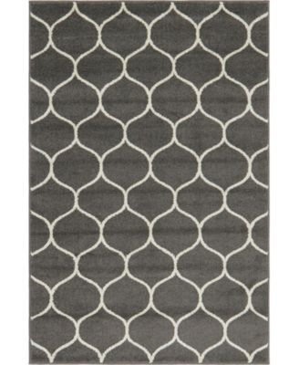 Plexity Plx2 Dark Gray 4' x 6' Area Rug