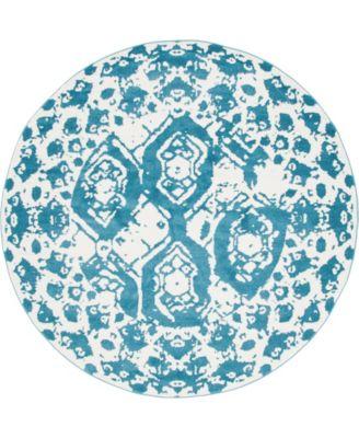 Mishti Mis5 Blue 8' x 8' Round Area Rug
