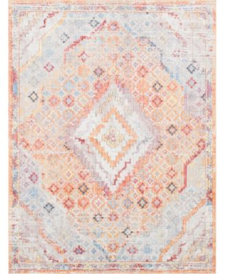 Zilla Zil1 Orange 9' x 12' Area Rug