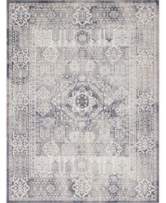 Zilla Zil3 Gray 9' x 12' Area Rug
