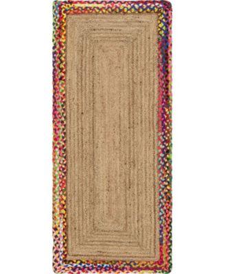 Chindi Border Chb2 Natural 5' x 8' Area Rug