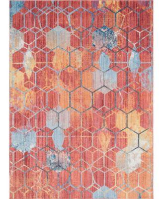 Prizem Shag Prz1 Red 8' x 11' Area Rug