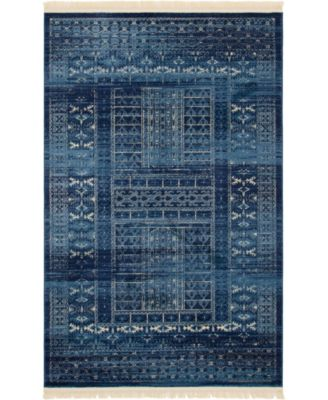 Borough Bor4 Blue 5' x 8' Area Rug