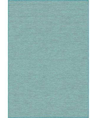 """Pashio Pas8 Turquoise 4' 2"""" x 6' Area Rug"""
