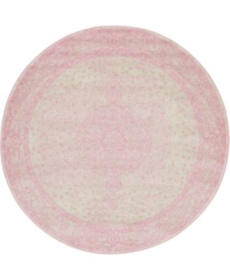 Mobley Mob1 Pink 8' x 8' Round Area Rug