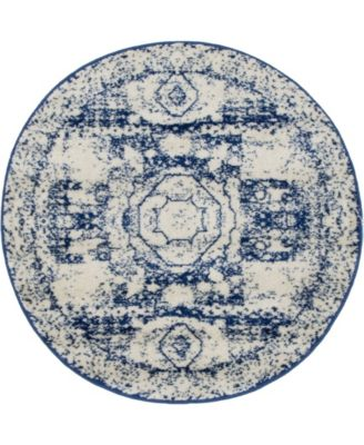 Mobley Mob2 Blue 3' x 3' Round Area Rug