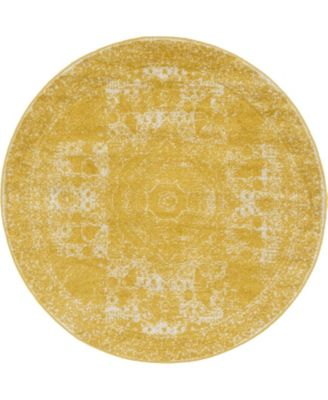 Mobley Mob2 Yellow 5' x 5' Round Area Rug