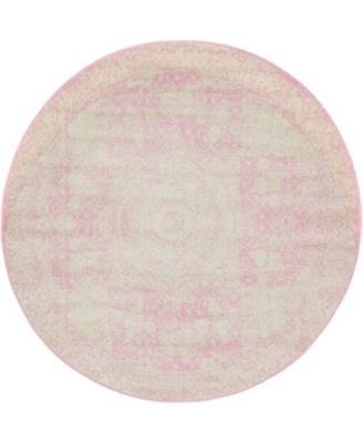 Mobley Mob2 Pink 5' x 5' Round Area Rug