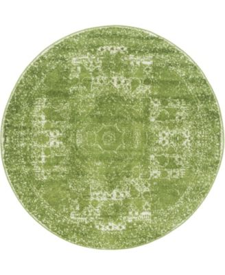 Mobley Mob2 Green 5' x 5' Round Area Rug