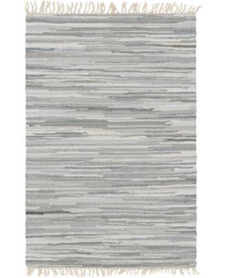 Jari Striped Jar1 Gray 4' x 6' Area Rug